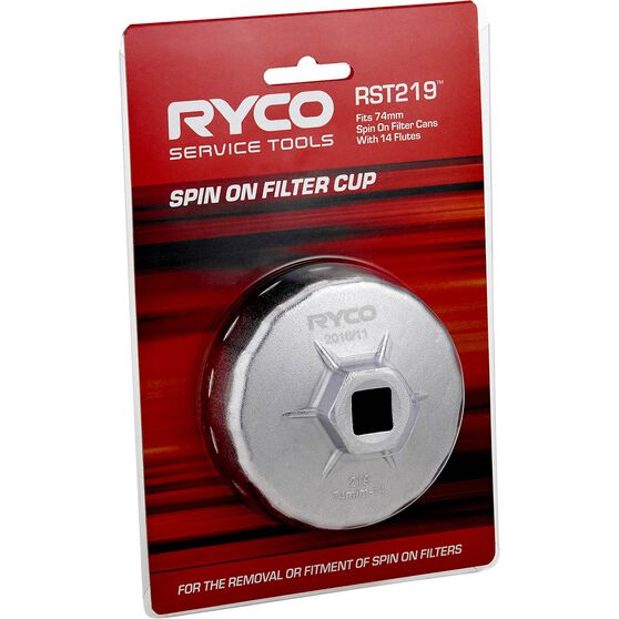 Ryco Oil Filter Cup Wrench  RST219, , scanz_hi-res