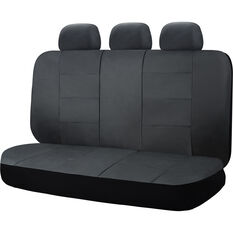 SCA Leather Look Seat Covers - Black Built-In Headrests Size 06H Rear Seat, , scanz_hi-res