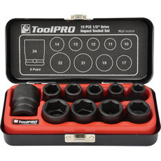 "ToolPRO Impact Socket Set 1/2"" Drive Metric 10 Piece, , scanz_hi-res"
