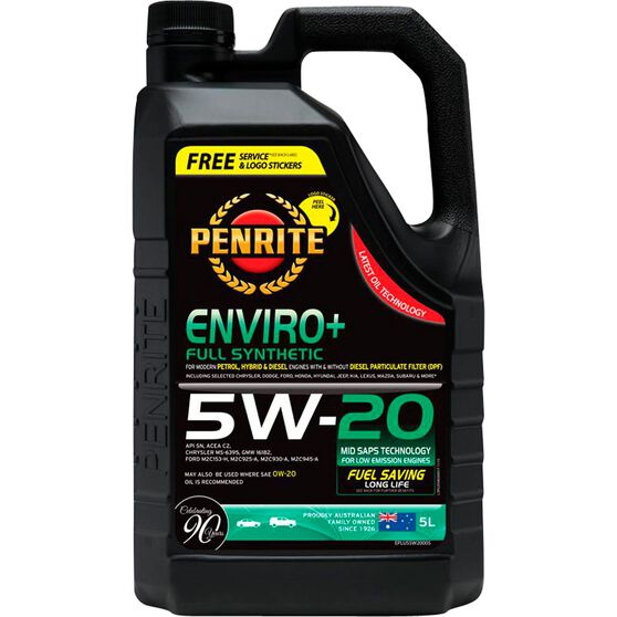 Penrite Enviro+ Engine Oil - 5W-20 5 Litre, , scanz_hi-res