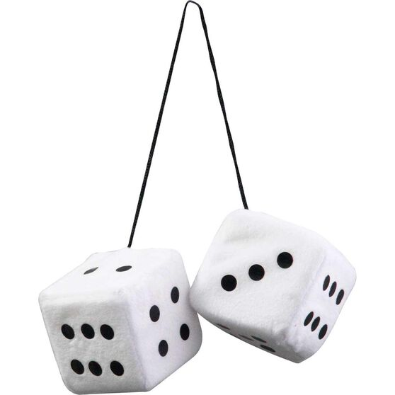 Fluffy Dice - Black With White Dots Or White With Black Dots, , scanz_hi-res