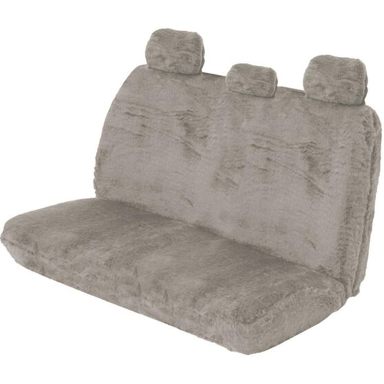 Comfort Fur Seat Cover - Grey, Adjustable Headrests, Size 06H, Rear Seat, , scanz_hi-res