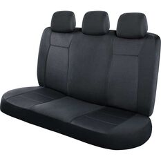 SCA Jacquard Seat Covers - Charcoal, Adjustable Headrests, Rear Seat, , scanz_hi-res