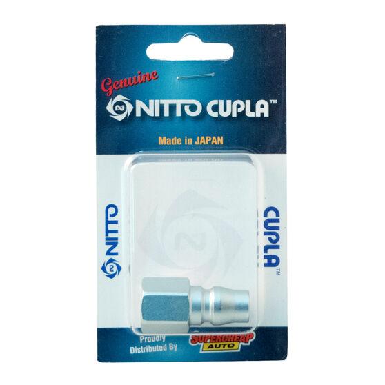 "Nitto Air Fitting Nipple Female Plug 1/4"" P-20PF, , scanz_hi-res"