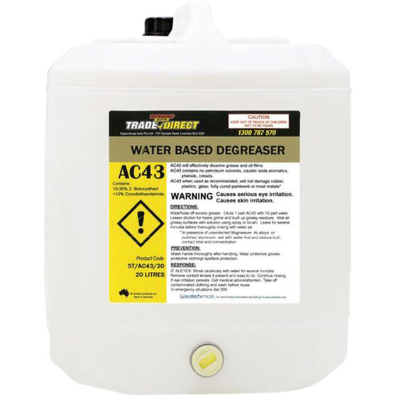 Trade Direct Water Based Degreaser 20 Litre - ST/AC43/20, , scanz_hi-res
