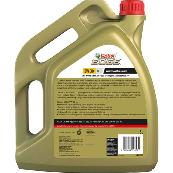 Castrol EDGE Diesel DPF Engine Oil - 5W-30, LL 5 Litre, , scanz_hi-res