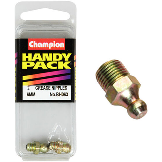 Champion Grease Nipples - 6mm, BH063, Handy Pack, , scanz_hi-res