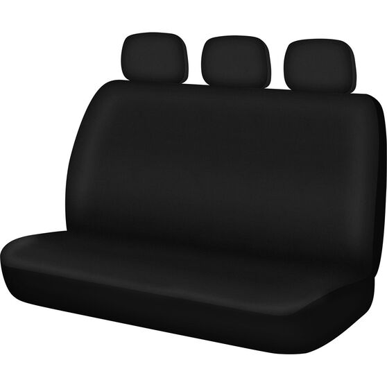 Essentials Seat Cover - Black, Adjustable Headrests, Size 06, Rear Seat, , scanz_hi-res