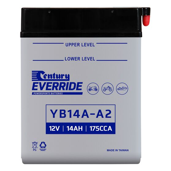Century Powersports Battery YB14A-A2, , scanz_hi-res