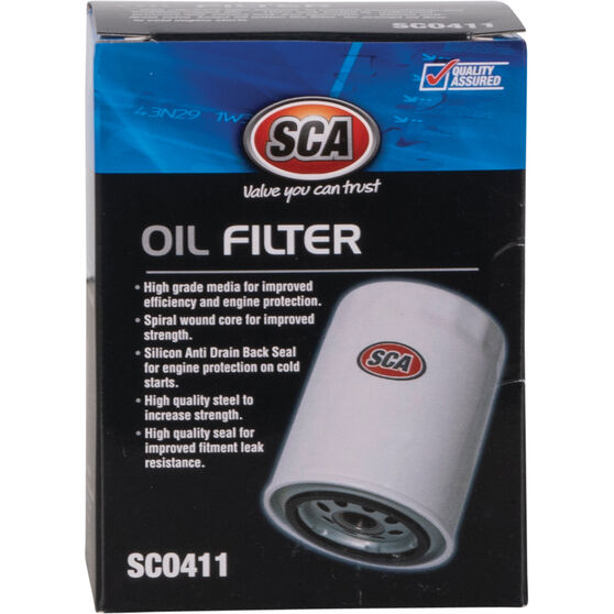 SCA Oil Filter SCO411 (Interchangeable with Z411), , scanz_hi-res