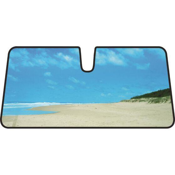 Beach Sunshade - Blue, Accordion, Front, , scanz_hi-res