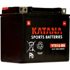 Powersports Battery -  YTX12-BS, , scanz_hi-res