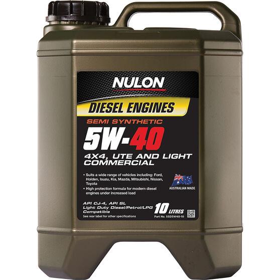Nulon Semi Synthetic Diesel Engine Oil - 5W-40 10 Litre, , scanz_hi-res
