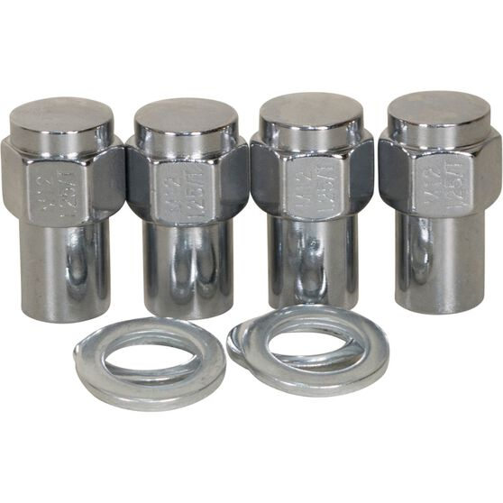 Calibre Wheel Nuts, Shank, Chrome - MN12125, 12mm x 1.25mm, , scanz_hi-res