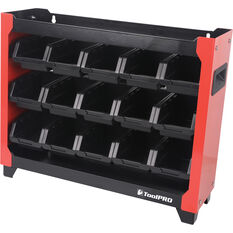 ToolPRO Stackable 15 Bin Rack, , scanz_hi-res