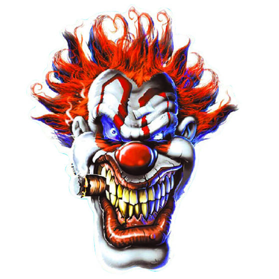 Sticker - Clown Face, Vinyl, , scanz_hi-res