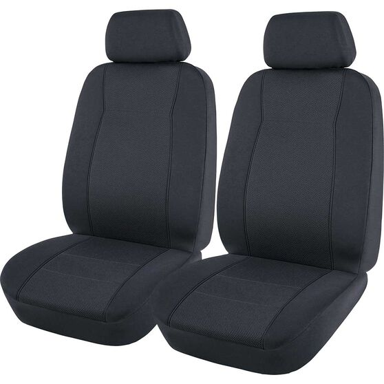 SCA Jacquard Seat Covers - Charcoal, Adjustable Headrests, Airbag Compatible, , scanz_hi-res