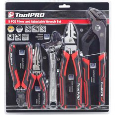 Plier and Wrench Set - 5 Piece, , scanz_hi-res