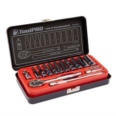 ToolPRO Socket Set - 1 / 4 inch Drive, Metric, 14 Piece, , scanz_hi-res