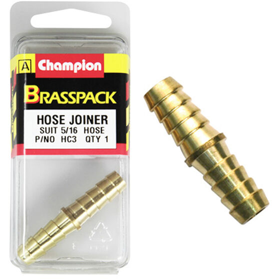Champion Hose Joiner - 5 / 16inch, Brass, , scanz_hi-res