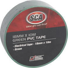 SCA PVC Electrical Tape - Green, 18mm x 10m, , scanz_hi-res