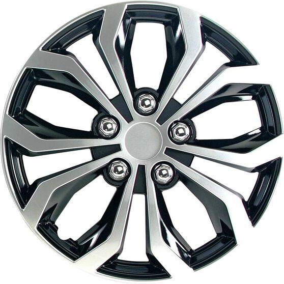 Street Series Wheel Covers - Venom 16in, Black / Silver, 4 Pack, , scanz_hi-res