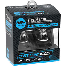 Calibre Headlight Globe HB4 12V 51W White Light, , scanz_hi-res