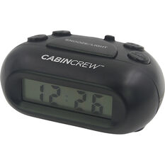 Cabin Crew Digital Alarm Clock - Black, , scanz_hi-res