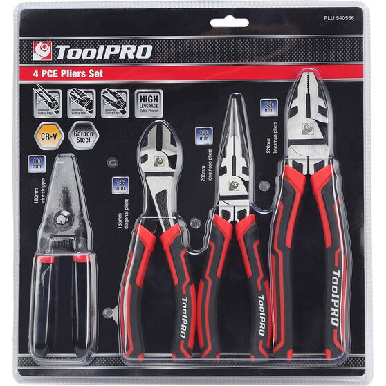 ToolPRO Plier Set - 4 Pieces, , scanz_hi-res