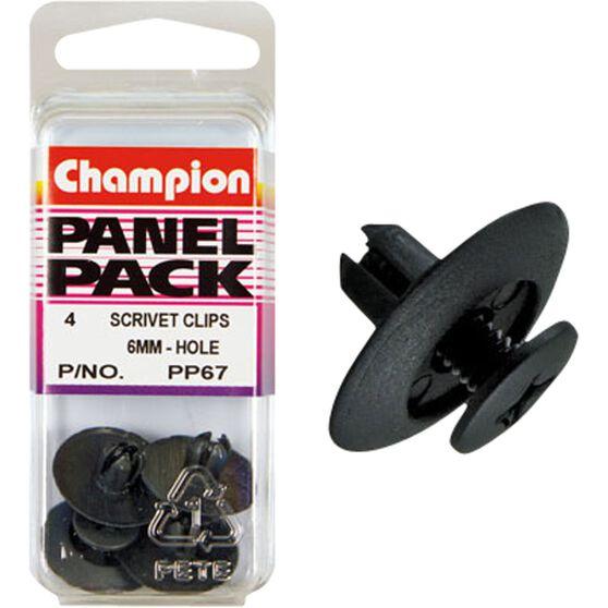 Champion Scrivet Clips - 6mm, PP67, Panel Pack, , scanz_hi-res