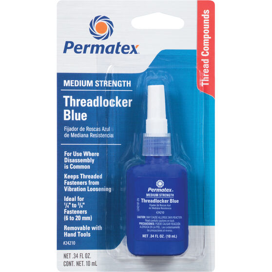 Permatex Threadlocker - Medium Strength, Blue, 10mL, , scanz_hi-res