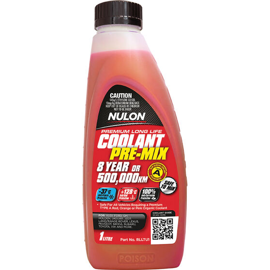 Nulon Red Premium Long Life Coolant Premix 1 Litre, , scanz_hi-res