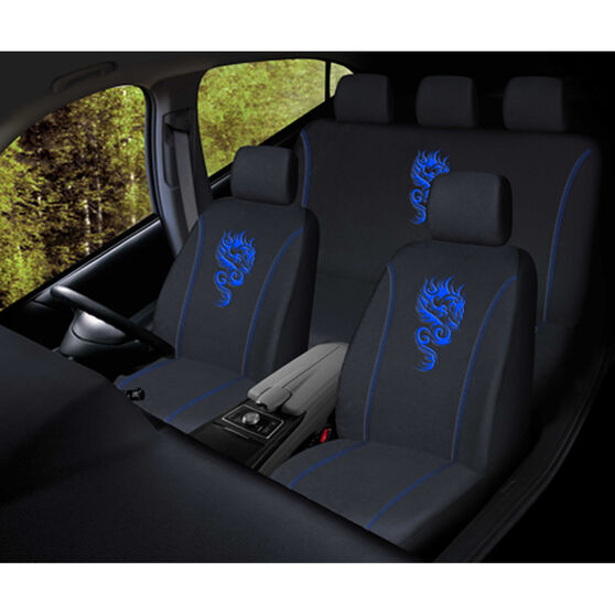 SCA Dragon Seat Cover Pack - Blue, Adjustable Headrests, Size 30 and 06H, Airbag Compatible, , scanz_hi-res