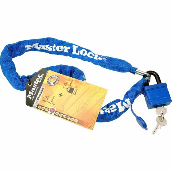 Master Lock Street Flexium Chain and Padlock - 40mm, 6mm x 90cm, , scanz_hi-res