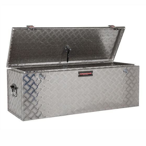 Thunderbox Aluminium Checkerplate Tool Box 114 Litre, , scanz_hi-res