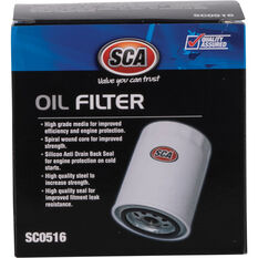 SCA Oil Filter SCO516 (Interchangeable with Z516), , scanz_hi-res