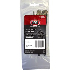 Cable Ties - Black, 140 x 3.6mm, 25 Pack, , scanz_hi-res