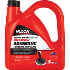 Nulon ATF Multi Vehicle Semi Synthetic Automatic Transmission Fluid 4 Litre, , scanz_hi-res