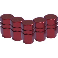 SCA Valve Stem Caps - Red, 5 Pack, , scanz_hi-res