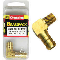 Champion Male Elbow 90° - 3/8 x 1/4 Inch, Brass, , scanz_hi-res