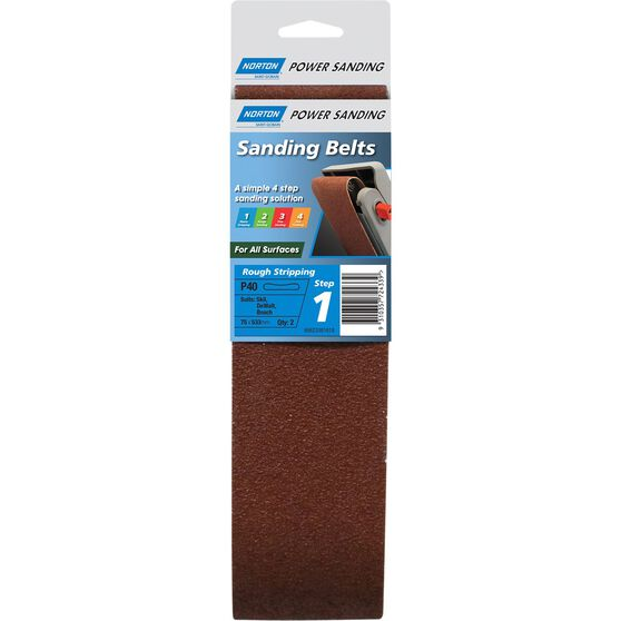 Norton Sanding Belt - 40 Grit, 2 Pack, , scanz_hi-res