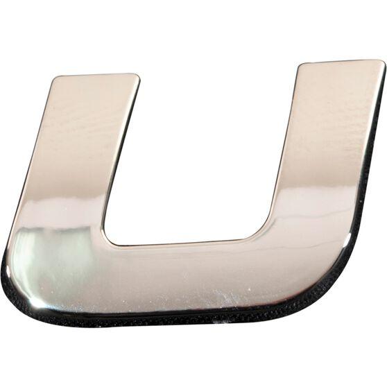 SCA 3D Chrome Badge Letter U, , scanz_hi-res