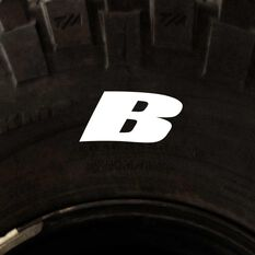 Tire Stickers - Letter B, , scanz_hi-res