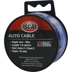 SCA Auto Cable - 10 AMP, 3mm, 7m, Blue, , scanz_hi-res