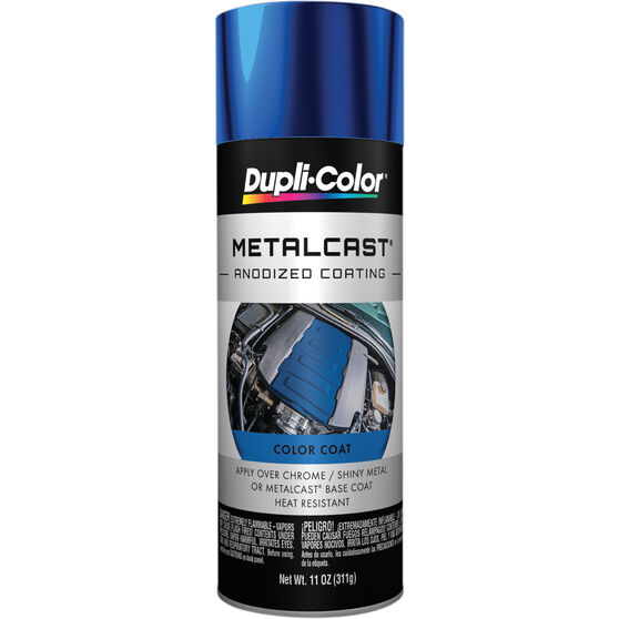 Dupli-Color Metalcast Aerosol Paint - Enamel, Blue Anodised, 311g, , scanz_hi-res