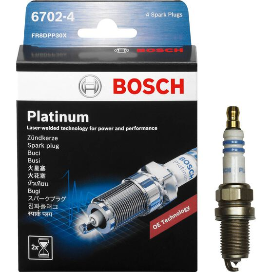 Bosch Platinum Spark Plug - 6702-4, 4 Pack, , scanz_hi-res