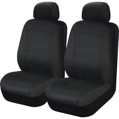 SCA Leather Look Seat Covers - Black, Adjustable Headrests, Size 30, Front Pair, Airbag Compatible, , scanz_hi-res