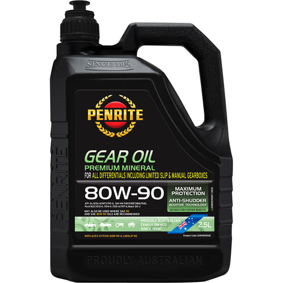 Penrite Gear Oil - 80W-90, 2.5 Litre, , scanz_hi-res