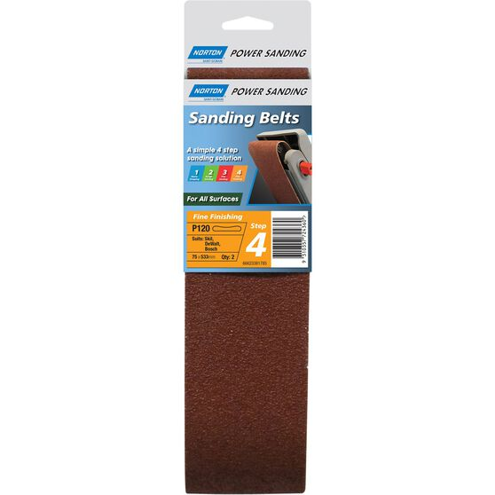 Norton Sanding Belt - 120 Grit, 2 Pack, , scanz_hi-res