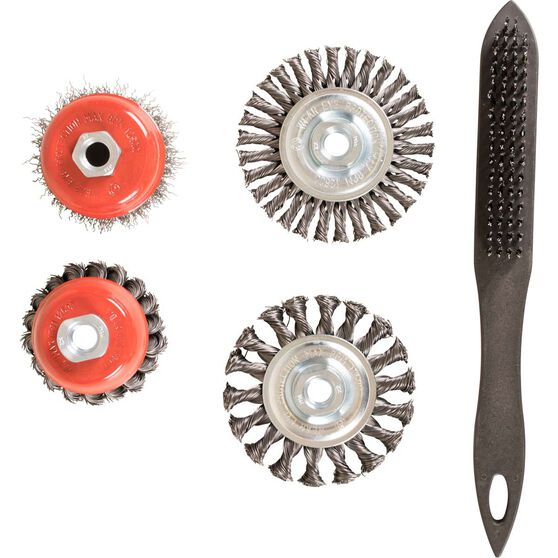 STEEL WIRE BRUSH SET - 5 PIECE, , scanz_hi-res